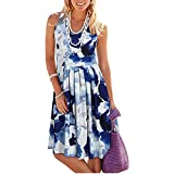 DRESSES Vestido de verano de la raya de la impresión de la mujer sin mangas vestido de verano 2021 playa vestido de fiesta fiesta para las mujeres vestido de mujer