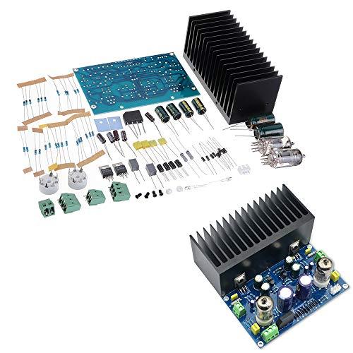 ILS – AC18V HIFI Amplificador de válvula electrónico Tarjeta amplificador para vacío 6J1 + LM1875 Amplificador Kit DIY