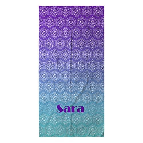 LolaPix Toalla Mandala Print. Regalos Personalizados. Toalla de Playa. Toalla Personalizada con Nombre. Varios diseños. Mandala Print