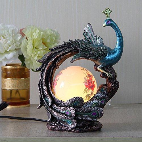 Peacock Peony luces novela y decoraciones creativas led lámpara bola regalos moda adornos