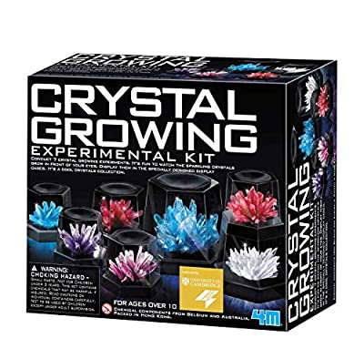 4M Crystal Growing Science Experimental Kit - Easy DIY STEM Toys Lab Experiment Specimens, A Great Educational Gift for Kids & Teens, Boys & Girls