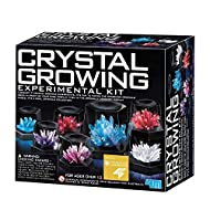 4M 5557 Crystal Growing Science Experimental Kit - 7 Crystal Science Experiments with Display Cases - Easy DIY STEM Toy Lab Experiment Specimens, Educational Gift for Kids, Teens, Boys & Girls
