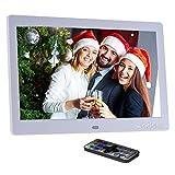 Marcos digitales Andoer 10 Pulgadas HD TFT-LED 1024 x 600 Marcos Digital de Fotos Música(Reproductor MP3 y MP4) Video / E-book,Despertador,Calendario,Con Control Remot ,Regalo para Navidad