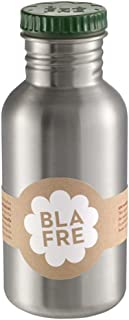 Blafre Stainless Recycled Steel Drinking Bottle 500ml, Dark Green - Classic design and a super way to avoid throwaway plas...