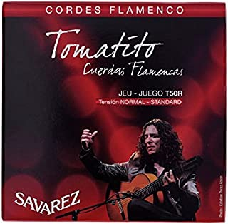 CUERDAS GUITARRA FLAMENCA - Savarez (T50R) Tomatito Tension Normal (Juego Completo)