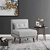 Cherry Tree Furniture LENSFIELD Sofabed with Cushion(s) (Grey Fabric, 1-Seater)