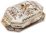 Better & Best P Florero Oro Sopera de cerámica, octogonal