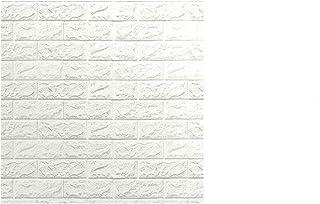 12 Pcs 70x77cm PE Foam 3D Wall Stickers Safty Home Decor Wallpaper Sticker,white