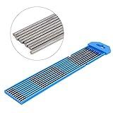 10Pcs / set Electrodo de soldadura de cabeza azul Electrodo de tungsteno de soldadura TIG Excelente inicio de arco WY20 Varilla Electrodo de tungsteno de itrio para la industria militar /