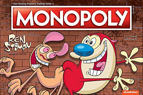USAOPOLY Monopoly Ren & Stimpy Board Game | Based on The Nickelodeon Series Ren & Stimpy | Officially Licensed Ren & Stimpy Merchandise | Themed Classic Monopoly Game