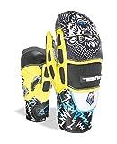 Level Kinder Handschuhe Pro Mitt, Black/Yellow, 5