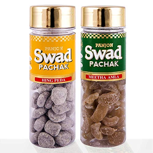 Panjon Swad Pachak Hing Peda & Meetha Amla Sweet Candy (Pack of 2), 220 gm