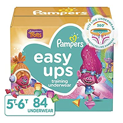 Pampers Easy Ups Training Pants Girls and Boys, 5T-6T (Size 7), 84 Count from AmazonUs/PRFY7