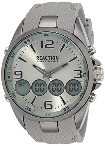 Kenneth Cole Reaction RK50276006 - Reloj de pulsera para hombre, color gris y plateado