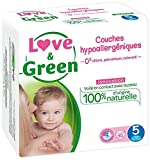 Love & Green - Couches Bébé Hypoallergéniques 0% - Taille 5 (11-25 kg) - 40 couches