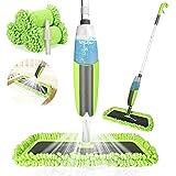 Winpok Spray Mop, Mopa con Pulverizador y Función de Pulverización para una Limpieza Rápida, Mopa con Pulverizador, Limpiador con Depósito de Agua y 2 Fundas de Microfibra