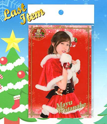 元AKB48 渡辺麻友Last Item2017 クリスマス ポストカードAKB48 CAFE & SHOP限定まゆゆ彡