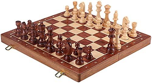 Juego de Tablero de ajedrez, Tablero de ajedrez magnético de 45 cm x 45 cm con ajedrez, Juego de ajedrez para niños y Adultos, ajedrez Plegable y portátil para Viajar