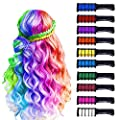 10 Color Hair Chalk for Girls Kids-New Hair Chalk Comb Temporary Washable Hair Color Dye for Girls Kids-7 8 9 10 Year Old Girl Gifts-Birthday Gift For 7 8 9 10 Year Old Girl-Girls Gifts Age 8-10-12 from Master-ed
