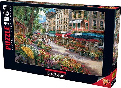 Rompecabezas de Mercado de Flores de París (1000 Piezas)
