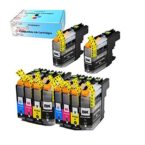 F FINDERS&CO LC203 XL - Cartuchos de tinta para Brother LC201 LC201XL LC203XL (repuesto de tinta...