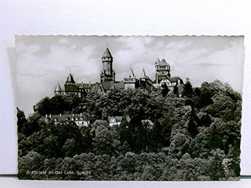 AK Braunfels an der Lahn, Schloß; Brauerei-Ausschank der Schloßbrauerei Braunfels; 1955