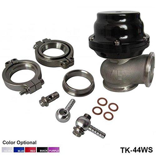 Purple MVS 38mm External Wastegate With V-Band Flanges Clamps V38 14PSI High Quality TK-38WS-PL Tansky