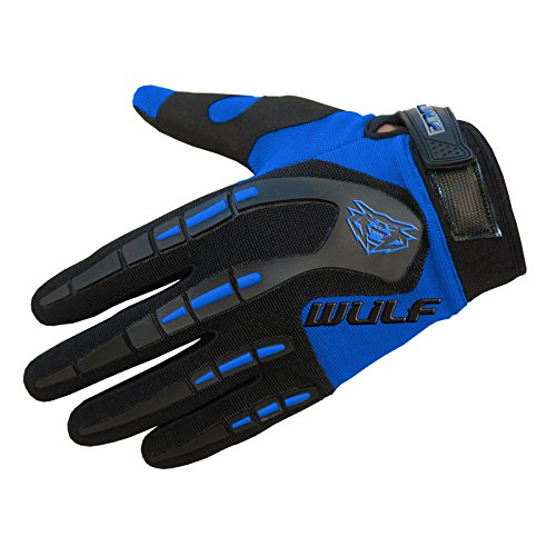 Wulfsport Attack Junior Kids Blue XS 10-12 Yrs Gloves Motocross Offroad Trials Mountain Bike