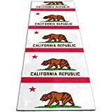 YEGFTSN Yoga Mat for Women Men, California CA State Flag Eco Friendly Non-Slip Exercise Workout Mat with Storage Bag for Home Gym Studio, Yoga, Stretching, Pilates and Floor Exercises
