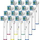 Firik 電動歯ブラシ オーラルB替えブラシ ベーシックブラシ 16本入り家庭用