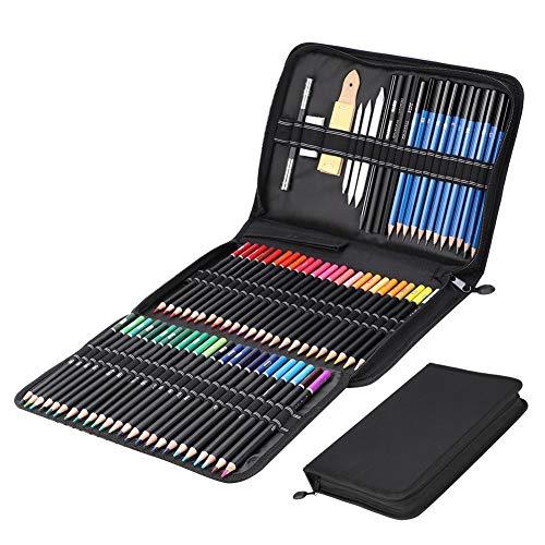 HEEPDD Dibujo a Lapiz, 95pcs Kit de Herramientas de boceto de Pintura...