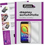 dipos I 2X Schutzfolie klar kompatibel mit Alcatel A3 Folie Bildschirmschutzfolie