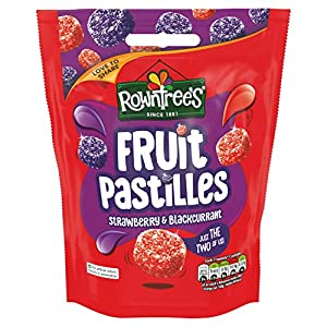 rowntrees fruit pastilles strawberry and blackcurrant sharing pouch, 150 g - pack of 10 Rowntrees Fruit Pastilles Strawberry and Blackcurrant Sharing Pouch, 150 g – Pack of 10 51joELRelhL