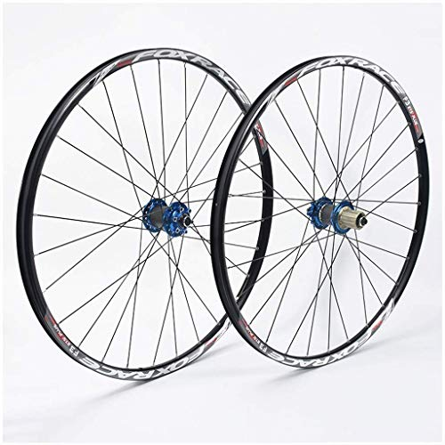 26 Inch Mountain Bike Wheels, Double Wall Aluminum Alloy Quick Release Discbrake MTB Hybrid Wheels 24 Hole 7/8/9/10 Speed