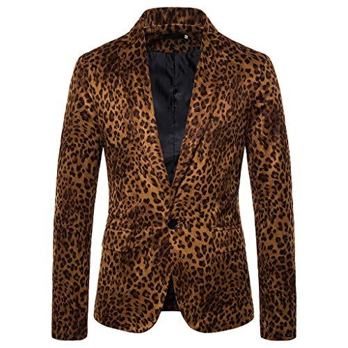 Herren Leopard Schlangenprint Anzugjacken Umlegekragen Freizeitjacken Outdoorjacken Männer Blazer übergangsjacke Kölner Karneval Herrenjacke CICIYONER
