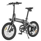 HIMO Z20 Bicicleta eléctrica Plegable 25 km/h 80KM kilometraje 250W 3 Modos de conducción IP7X Impermeable 20 Pulgadas ebike para Mujeres Hombres niños (enviado Desde Polonia) (Gris)