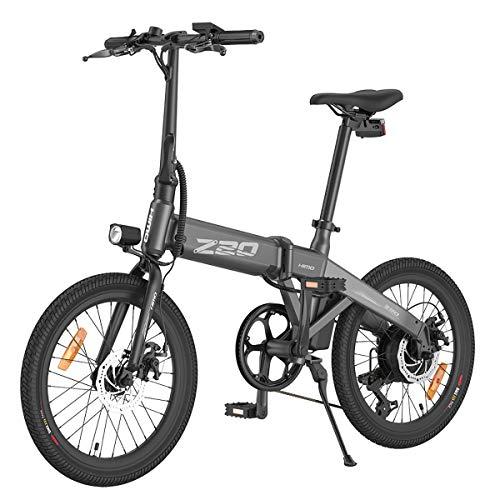 HIMO Z20 Bicicleta eléctrica plegable 25 km/h sistema de engranajes de 6...