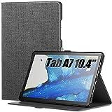 INFILAND Funda para Samsung Galaxy Tab A7 10.4 2020, Soporte Frontal Estuche para Samsung Galaxy Tab A7 10.4 (T500/T505/T507) 2020, Gris