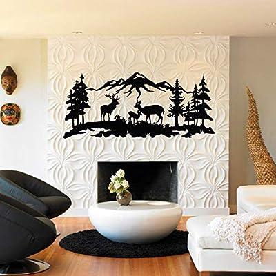 DEKADRON Metal Wall Art, Deer Family Wall Art, Metal Tree Decor, Metal Wall Decor, Interior Decoration, Wall Hangings from DEKADRON