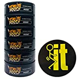 Hooch Herbal Snuff Whiskey Fine Cut 6 Cans with DC Crafts Nation Skin Can Cover - FIT Black