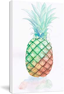 K-Road Pineapple Wall Art Framed Canvas Painting Modern Print Fruit Picture Kitchen Living Room Decor Watercolor 10x16in