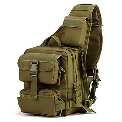 Huntvp Tactical Military Sling Pack Chest Daypack Molle Backpack Shoulder Bag