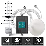 ANNTLENT Amplificador Señal Movil 2G 3G 4G Tri-Banda Repetidor gsm 900/1800/2100MHz Compatible con Movistar/Orange/Yoigo/Vodafone para el Hogar/Oficina