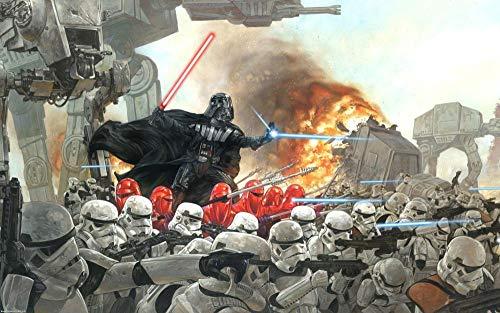 KJHJKH Movie Star Wars/Darth Vader/AT-AT Walkerrompecabezas Madera 1000 Comprimidos,Rompecabezas de Impresión de Alta Definición Multicolor:(H-50 cm x M/B-75 cm)