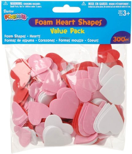 Foamies® 300 Piece Value Pack Shapes - Hearts