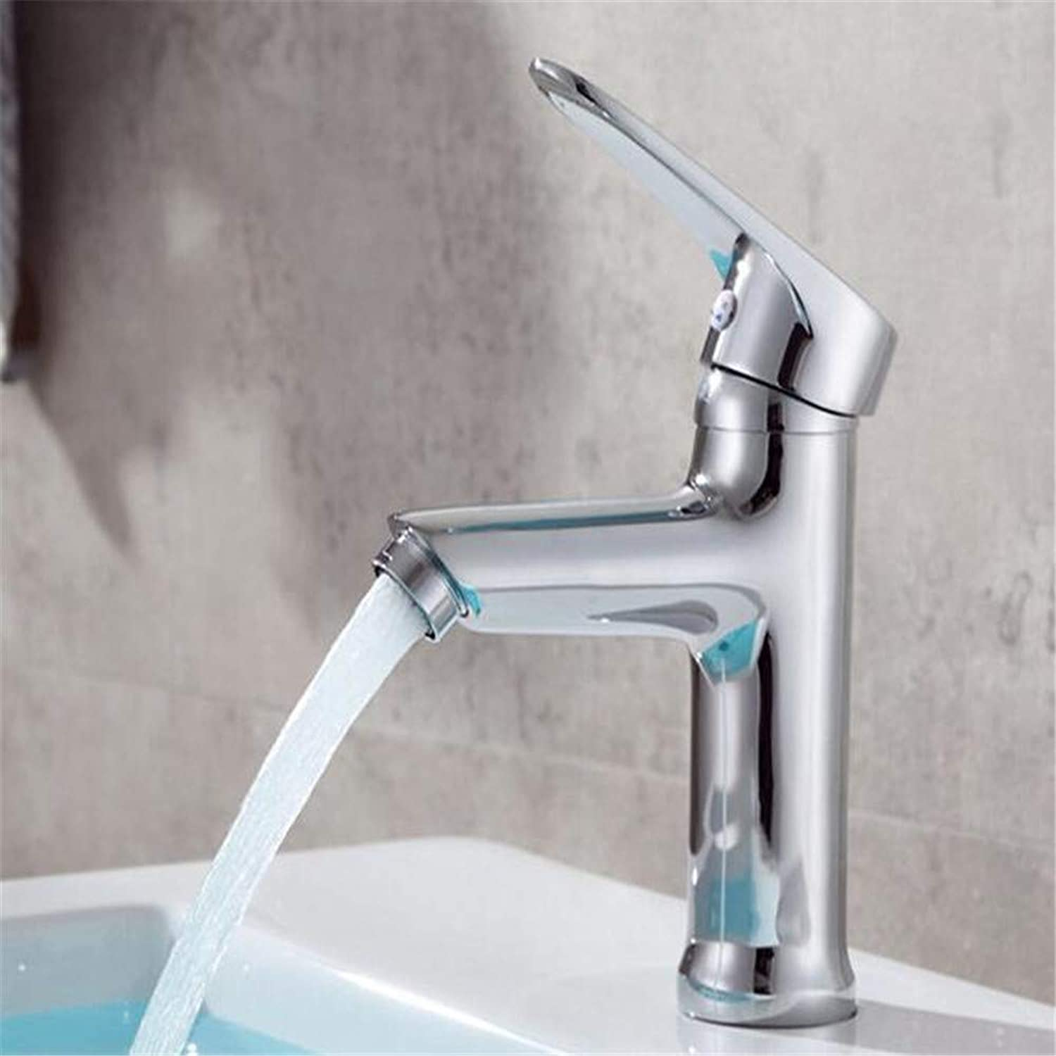 Bathroom Sink Copper Basin Mixer Valve Faucet Cold and Hot Single Basin Washbasin Faucet Ceramic Basin Faucet