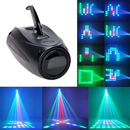 U`King LED Teste Mobili,64 LED RGBW Luci Discoteca,Gobo Multipli Illuminazione del Palcoscenico con Effetti Sonori per Club,Matrimoni,Bar,Banchetti,Feste