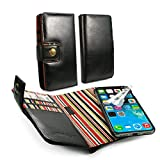 Alston Craig Vintage Leather Case Wallet with Magnetic Shell & RFID Blocker for Apple iPhone X - Black