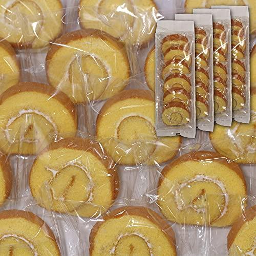 国産たまごをたっぷり使ったロールケーキ24個入り [6個入り×4袋] 個包装 訳あり お菓子