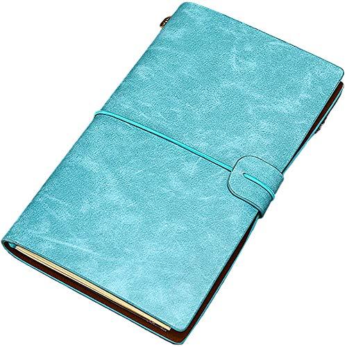 Bloc de Notas, CYSJ bloc de notas retro con hebilla, libreta cuero, diario de Viaje,Cuaderno retro, Diario de Cuero para Dibujar y Escribir, El Cuaderno de Viaje de Tamaño Perfecto